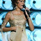Whitney Houston durant sa performance à la cérémonie des World Music Awards de 2004