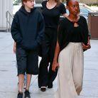Avec Shiloh et Zahara