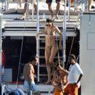 Doutzen Kroes, Candice Swanepoel et leurs amis au large d'Ibiza