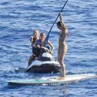 Doutzen Kroes et Candice Swanepoel au large d'Ibiza