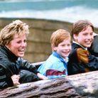 Lady Di et les princes William et Harry, en 1993
