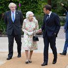 Emmanuel Macron et la reine