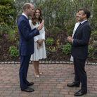 Le prince William & Kate Middleton avec le couple Macron