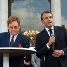 Elton John et Emmanuel Macron
