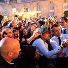 Emmanuel et Brigitte Macron fêtent la musique à l'Elysée
