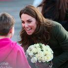 La duchesse de Cambridge, le sourire aux lèvres