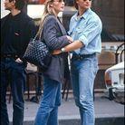 Estelle Lefébure et David Hallyday en 1989