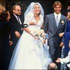 Le mariage d'Estelle Lefébure et David Hallyday en 1989