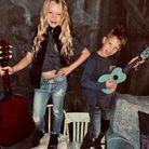 Les enfants de Jessica Simpson déguisés en rockeurs (2019)