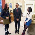 Barack Obama et ses filles, Sasha et Malia