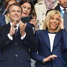 Emmanuel et Brigitte Macron au Parc des Princes pour le premier match France-Corée du Sud