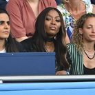 Naomi Campbell, attentive durant le match