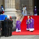 L'arrivée du cercueil de Jacques Chirac