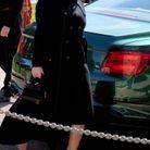 La princesse Eugénie arrive à Windsor