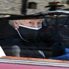 La reine dans sa Bentley aux obsèques du prince Philip