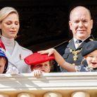 Charlène de Monaco, le prince Albert II et leurs enfants
