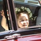 La princesse Charlotte le jour du mariage du prince Harry et de Meghan Markle