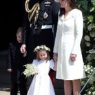 Le prince William, Kate Middleton et leur fille Charlotte au mariage du prince Harry et de Meghan Markle