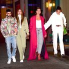Zayn Malik et Gigi Hadid accompagnés de Dua Lipa et Bella Hadid