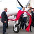 Inauguration d'un avion