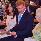 Meghan Markle, le prince Harry et la reine d'Angleterre