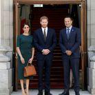 Petite photo souvenir pour le couple princier avec le premier ministre irlandais Leo Varadkar