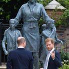 Devant la statue de Lady Di