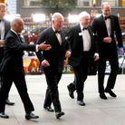 Arrivée des princes et de Sir David Attenborough