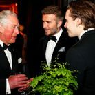 Le prince Charles, David et Brooklyn Beckham