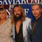 Heidi Klum, Tom Kaulitz et Bill Kaulitz au gala Luisaviaroma