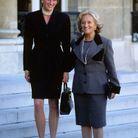 Lady Di et Bernadette Chirac à l'Elysée en 1996