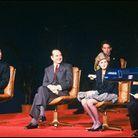 Le couple princier et Jacques Chirac à la présentation de l'A320