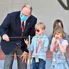 Le prince Albert II et ses jumeaux