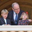 Jacques et Gabriella sur le balcon du palais princier