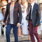 Karl Lagerfeld et Baptiste Giabiconi à Saint Tropez
