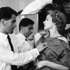 Karl Lagerfeld, styliste de mode chez Jean Patou en 1958