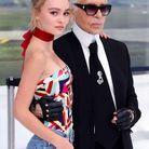 Lily-Rose Depp et Karl Lagerfeld