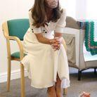 La duchesse porte un masque réutilisable