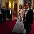 Kate Middleton et Steve Mnuchin, secrétaire d'Etat américain à la Trésorerie