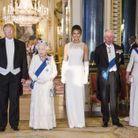 Le couple présidentiel américain, la reine d'Angleterre, le prince Charles et Camilla