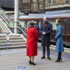 Le couple voyage à bord du train royal