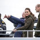 Kate Middleton porte une veste kaki Seeland
