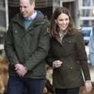 Le couple royal semble très heureux de sa visite à la ferme