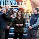 Le duc et la duchesse de Cambridge ont profité de leur visite pour discuter avec les agriculteurs irlandais