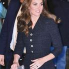 Kate Middleton avec sa robe brillante en tweed