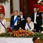 La reine d'Angleterre, la reine Maxima des Pays-Bas et le roi Willem-Alexander