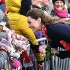 Kate Middleton a pris un bain de foule dès son arrivée