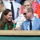 Kate Middleton et le prince William lors de la finale dames de Wimbledon