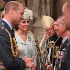 Le prince William et Kate Middleton dans l'Abbaye de Westminster