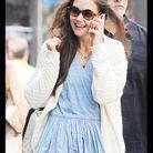 Elle est photographiée chaque jour sourire aux lèvres dans les rues de Manhattan